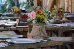 Blumengrüße - Tischdekoration