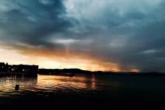 Sonnenaufgang Betina kurz vorm Gewitter