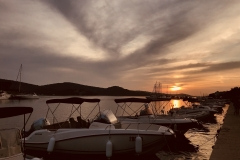 Sonnenuntergang in Tisno