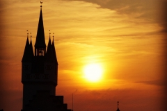 Stadtturm Straubing im Sonnenuntergang