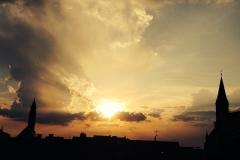 Traumhafter Sonnenuntergang über Straubing