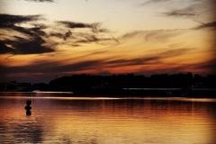 Abendstille an der Donau