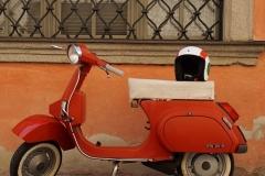 Ein Roller aus Italien