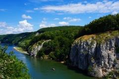 Donaudurchbruch bei Kelheim von oben