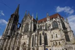 Regensburger Einblicke - Dom im Himmelblau