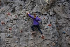 In der Kletterwand