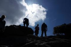 Menschen am Berg